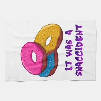 Donuts, it was a snaccident kitchen towel