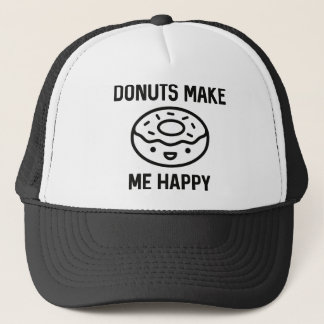 Donuts Make Me Happy Trucker Hat