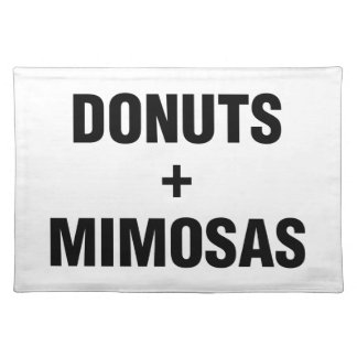 Donuts & Mimosas Placemat