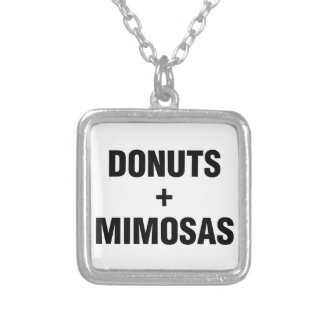 Donuts & Mimosas Silver Plated Necklace