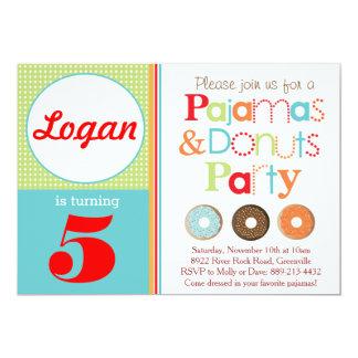 Donuts & Pajamas Party Invitation (Boys)