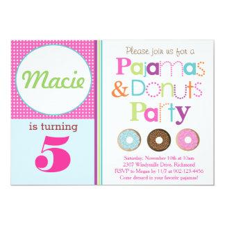 Donuts & Pajamas Party Invitation (Pink)