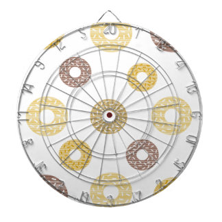 Donuts pattern - brown and beige. dartboard
