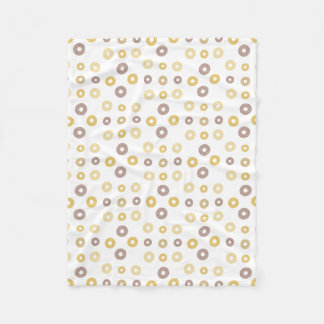 Donuts pattern - brown and beige. fleece blanket