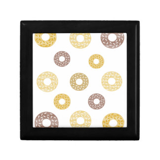 Donuts pattern - brown and beige. gift box