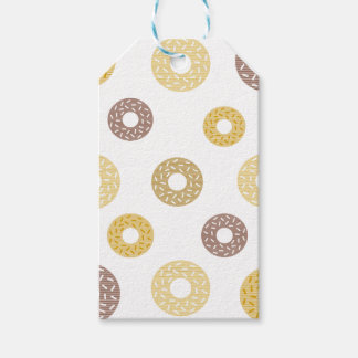 Donuts pattern - brown and beige. gift tags