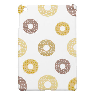 Donuts pattern - brown and beige. iPad mini covers