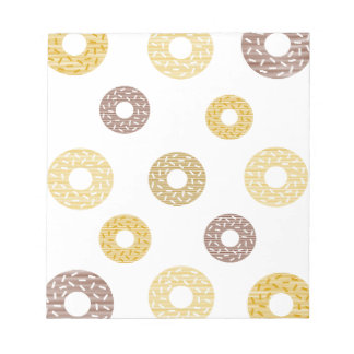 Donuts pattern - brown and beige. notepad