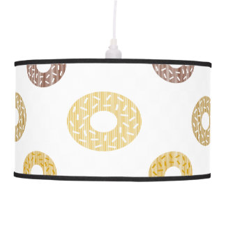 Donuts pattern - brown and beige. pendant lamp
