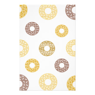 Donuts pattern - brown and beige. stationery