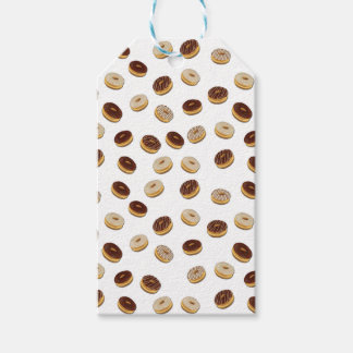 Donuts pattern gift tags