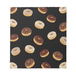 Donuts pattern notepad