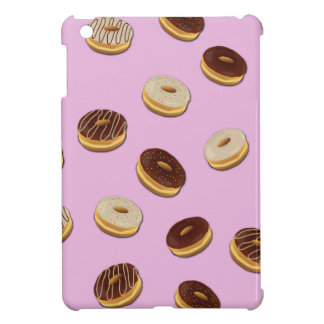 Donuts pattern - pink cover for the iPad mini
