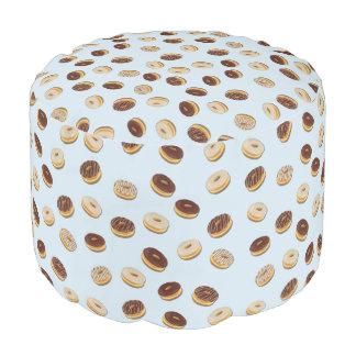 Donuts pattern pouf