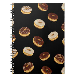 Donuts pattern spiral notebook