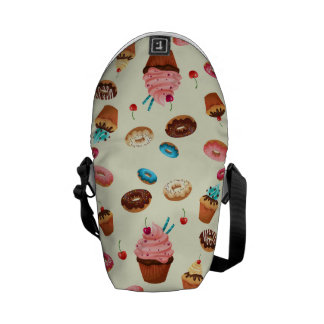 Donuts Rain Messenger Bags