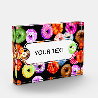 Donuts seamless pattern + your backgr. & ideas