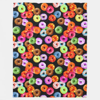 Donuts seamless pattern + your backgr. & ideas fleece blanket