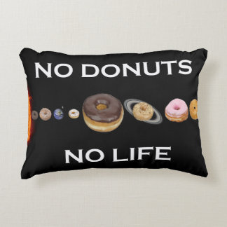 Donuts solar system accent pillow