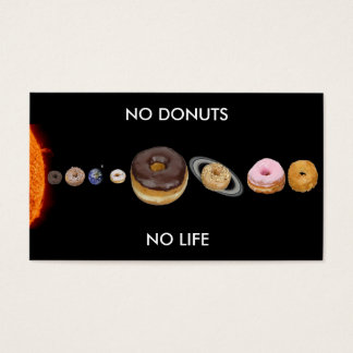 Donuts solar system business card