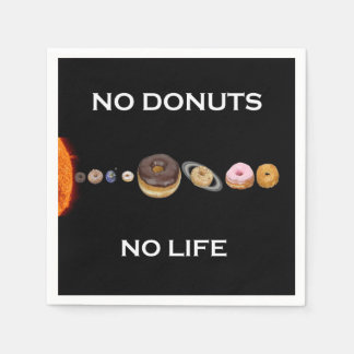 Donuts solar system disposable napkins