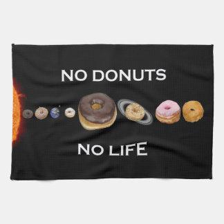 Donuts solar system kitchen towel