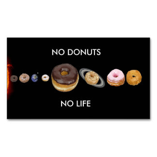 Donuts solar system 	Magnetic business card