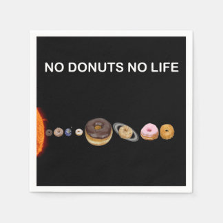 Donuts solar system paper napkins