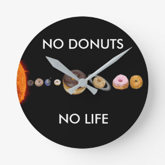Donuts solar system round clock