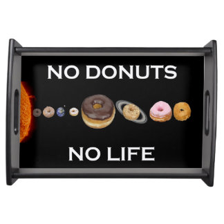 Donuts solar system serving tray