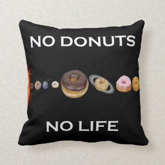 Donuts solar system throw pillow