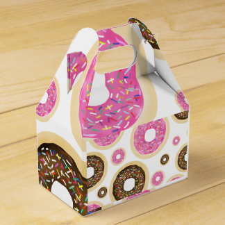 Donuts & Sprinkles Pink Brown Yummy Party Favor Favor Box