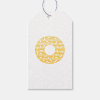 Donuts - strips - orange. gift tags