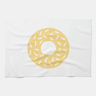 Donuts - strips - orange. kitchen towel