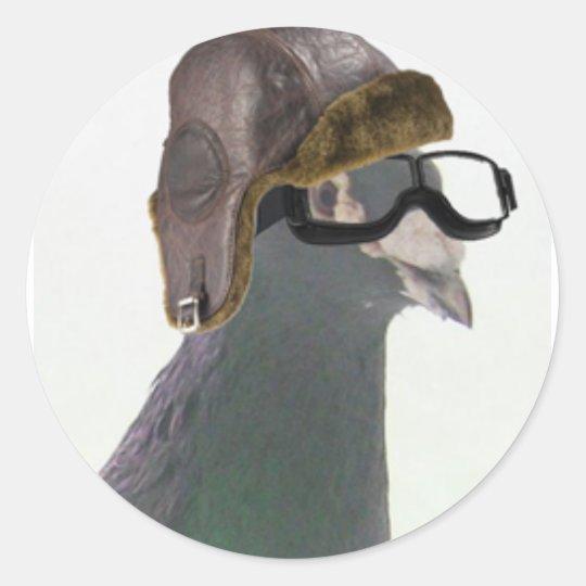 doo the pigeon cropped1.jpg classic round sticker