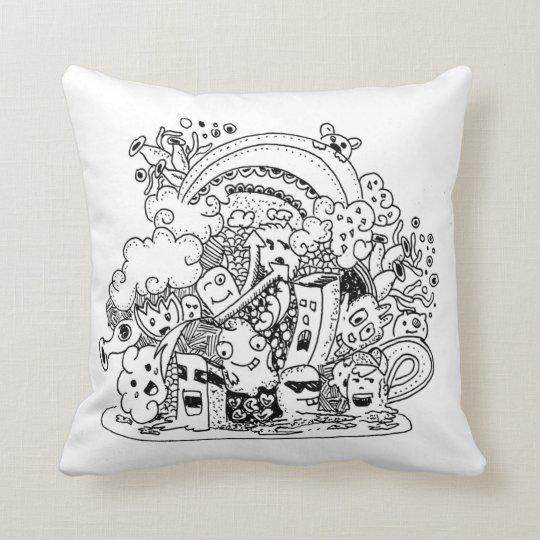 Doodle #1 throw pillow