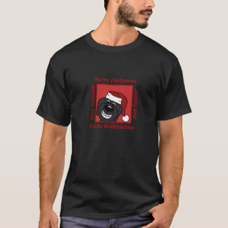 Doodle black Christmas T-Shirt