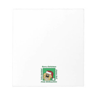 Doodle blond Christmas Notepad