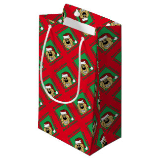 Doodle blond Christmas Small Gift Bag