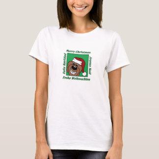 Doodle brown Christmas T-Shirt