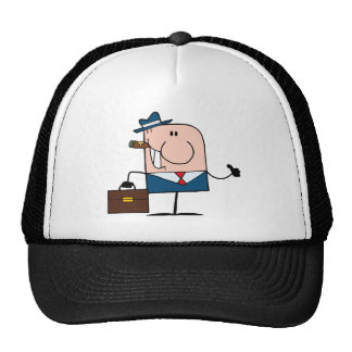 Doodle Businessman Holding A Thumb Up Trucker Hat