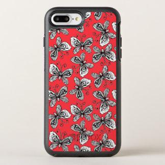 Doodle butterflies pattern OtterBox symmetry iPhone 8 plus/7 plus case