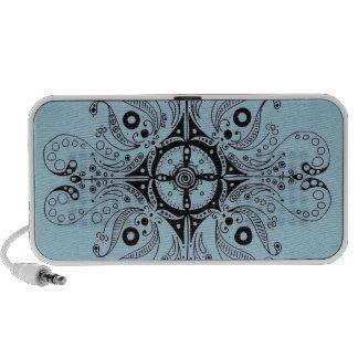 Doodle by OrigAudio™ in Aqua with Henna Design iPod Speaker