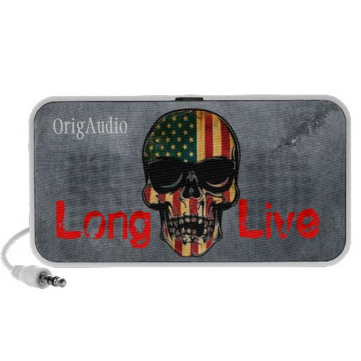 Doodle by OrigAudio™ Long Live America Skull Portable Speakers