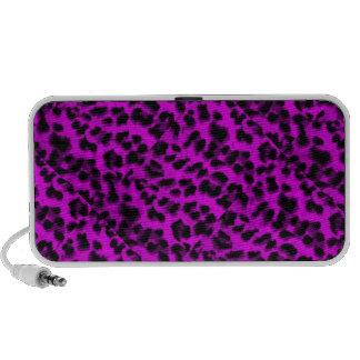 Doodle by OrigAudio™with Purple animal skin design Travel Speaker