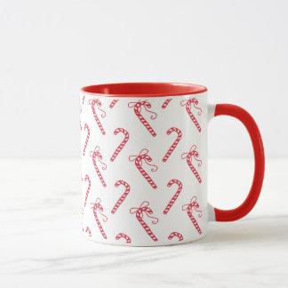 Doodle Candy Cane Pattern Mug