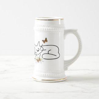 Doodle Cat Beer Stein