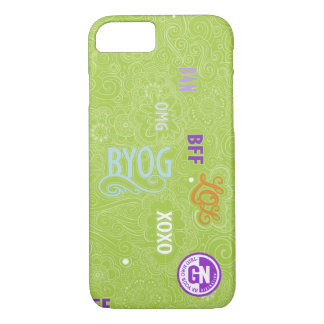 Doodle Chat iPhone 7 case Green