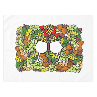 "Doodle Cotton Tablecloth, 52""x70"" Tablecloth"