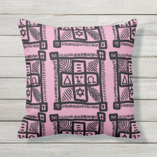 Doodle Cussion Outdoor Pillow